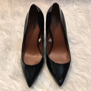 Mossimo black patent leather 3 inch heels size 7.5